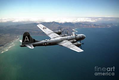 Superfortress Digital Art - Fifi On Tour - B-29 by J Biggadike