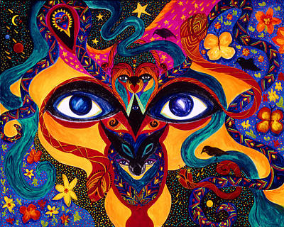 Painting - All Seeing by Marina Petro