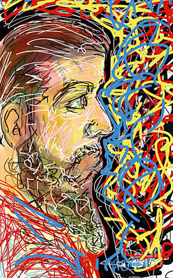 Fifteen Minute Beard Art Print by Robert Yaeger