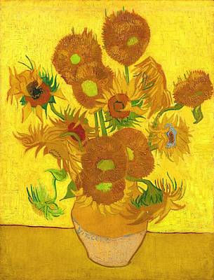 Painting - Fifteen Sunflowers In A Vase by Vincent Van Gogh