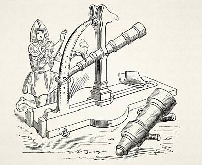 Fifteenth Century Canon. From The Art Print by Vintage Design Pics