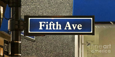 Photograph - Fifth Avenue New York City by Kerri Farley