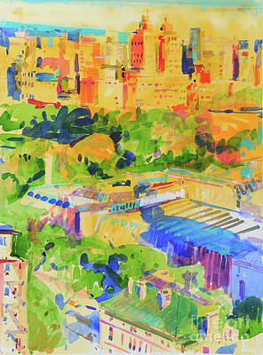 Painting - Fifth Avenue Shadows Over The Metropolitan by Peter Graham