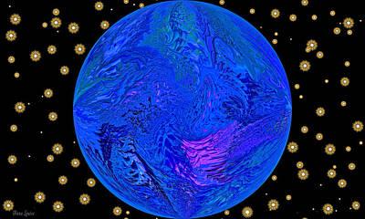 Digital Art - Fifth Dimension Earth by Anna Louise