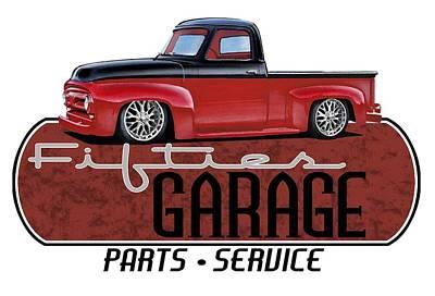 Fifties Garage Art Print by Paul Kuras