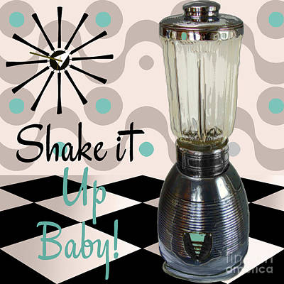 Mad Painting - Fifties Kitchen Blender by Mindy Sommers