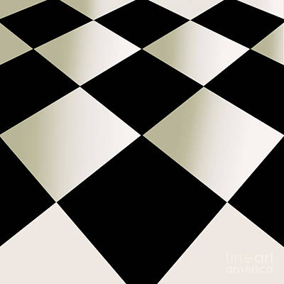 Toaster Painting - Fifties Kitchen Checkerboard Floor by Mindy Sommers