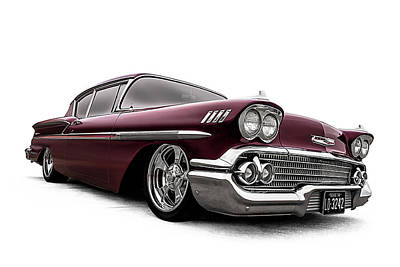 Digital Art - Fifty-eight Impala by Douglas Pittman