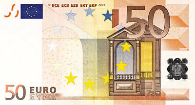 Digital Art - Fifty Euro Bill by Serge Averbukh