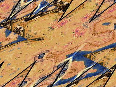 Blue Fig Digital Art - Fig Leaf by Lenore Senior