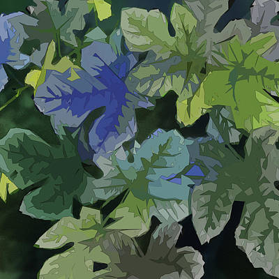 Digital Art - Fig Leaves by Gina Harrison