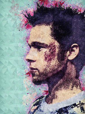 Mixed Media - Fight Club Poster - Brad Pitt - Tyler Durden by Studio Grafiikka