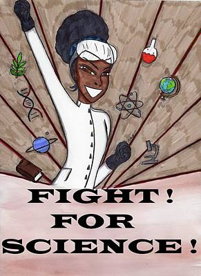 Fight For Science Art Print