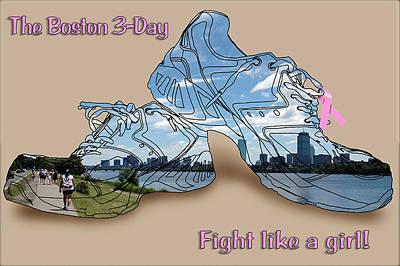 Sneakers Digital Art - Fight Like A Girl by Ross Powell