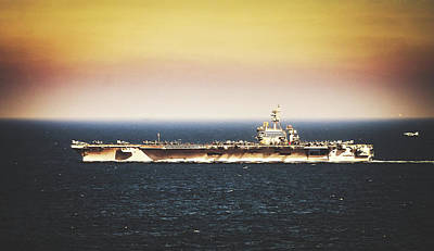 Photograph - Fighter Approaching The U S S Theodore Roosevelt by U S Navy