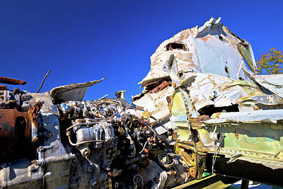 Photograph - Fighter Jet Airplane Wreck View by Brch Photography