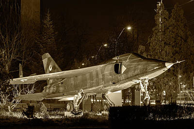 Photograph - Fighter Plane By Night by Vlad Baciu