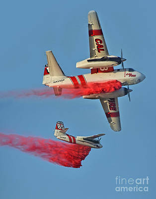 Photograph - Fighting A Fire From Above  by Jim Fitzpatrick