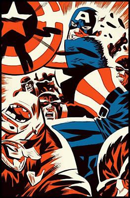 Digital Art - Fighting Captain by Gary Grayson