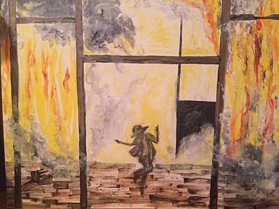 Rihanna Painting - Fighting Fire Tap Dancer by Tonya Walter