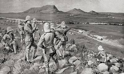 Fighting Mac And The Highland Brigade Art Print