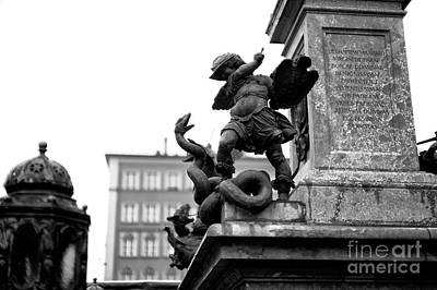 Photograph - Fighting The Serpent In Marienplatz by John Rizzuto