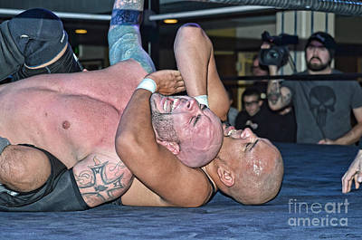 Eyes Photograph - Fighting To Escape A Sleeper Hold by Jim Fitzpatrick