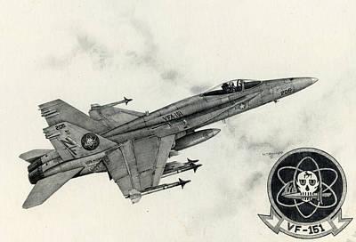 F-18 Painting - Fighting Vigilantes by Mark Jennings