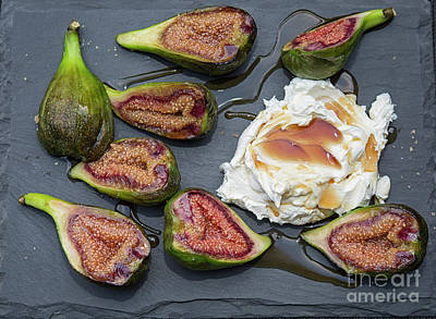 Photograph - Figs Dessert With Mascarpone by Patricia Hofmeester