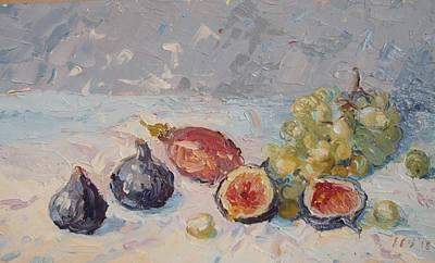 Figs With Granadilla And Grapes Original by Elinor Fletcher