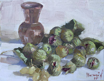 Copper Painting - Figs by Ylli Haruni
