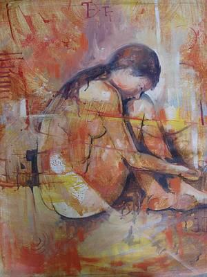 Quadro Painting - Figura Feminina by Sousa Rodrigues