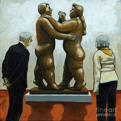 Figurative Art - Bottero Sculpture Art Print by Linda Apple