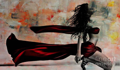 Dancers Painting - Figurative Art095b by Gull G