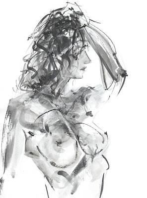 Geese Drawing - Rcnpaintings.com by Chris N Rohrbach