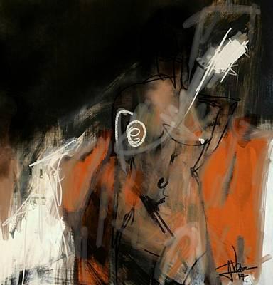 Digital Art - Figure Abstract -  17sept2017 by Jim Vance