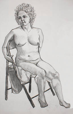 Art Print featuring the drawing Figure Drawing by Jean Haynes