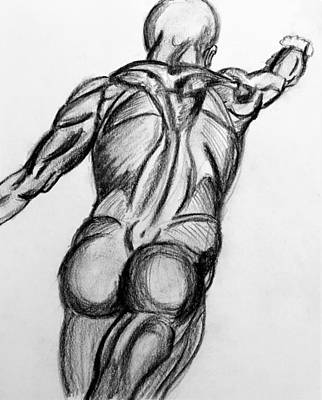 Figure Drawing Sketch 1 Art Print