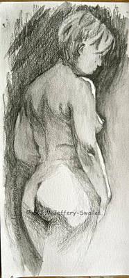 Drawing - Figure Drawing.2. by SJV Jeffery-Swailes