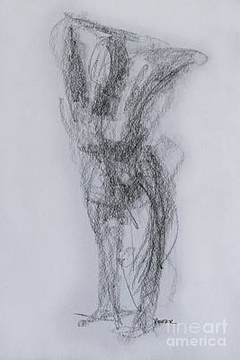 Abstract Forms Drawing - Figure In Motion 3761 by Robert Yaeger