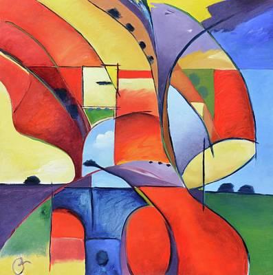 Figure Landscape Abstract Art Print
