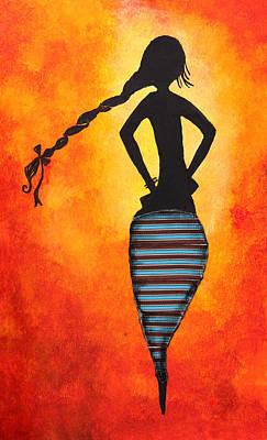 Asian Nude Painting - Figure Of A Woman by Nirdesha Munasinghe
