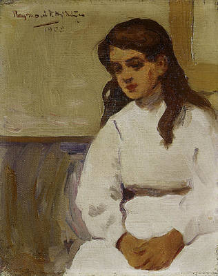 Raymond Painting - Figure Of A Young Girl by Raymond McIntyre