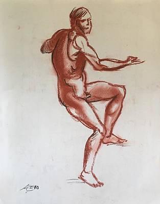 Figure Sketch Art Print by Alejandro Lopez-Tasso