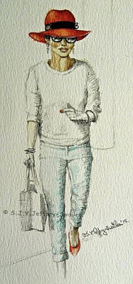 Painting - Figure Sketch.6. by SJV Jeffery-Swailes