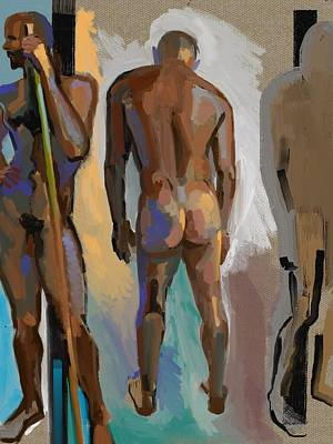 Digital Art - Figure/space Study by Clyde Semler