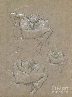 Flaming June Painting - Figure Studies For Flaming June by Celestial Images