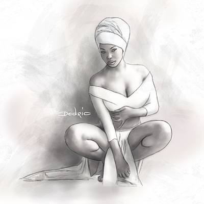 Digital Art - Figure Study 1 by Dedric Artlove W