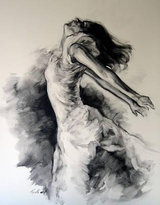 Contempory Painting - Figure Study 12 by Stuart Gilbert