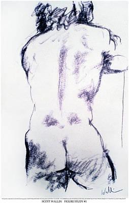 Figure Study One Art Print by Scott Wallin
